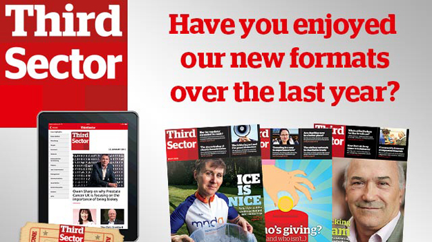 Win a digital subscription to Third Sector plus £100 charity donation