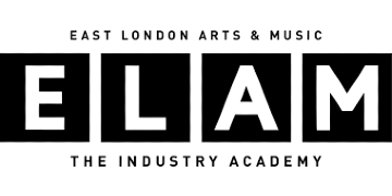 East London Arts and Music logo