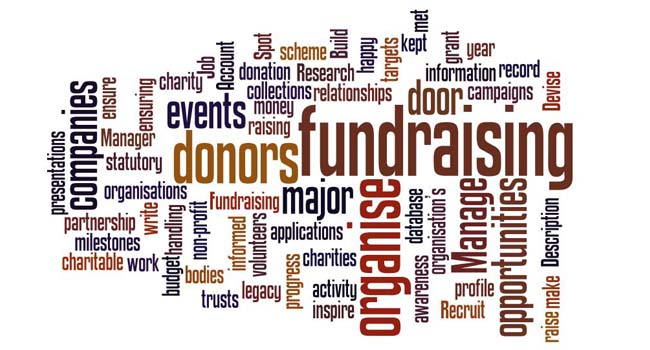 fundraising manager word cloud